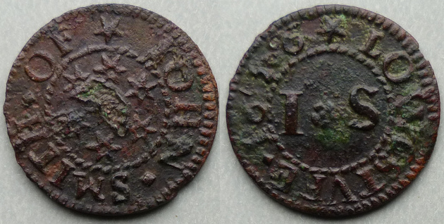 Lowestoft, John Smith 1656 farthing