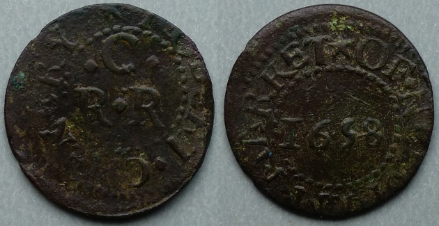 Needham Market, Robert Chenery 1658 farthing