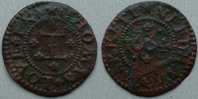 Needham Market, Thomas Love 1664 farthing