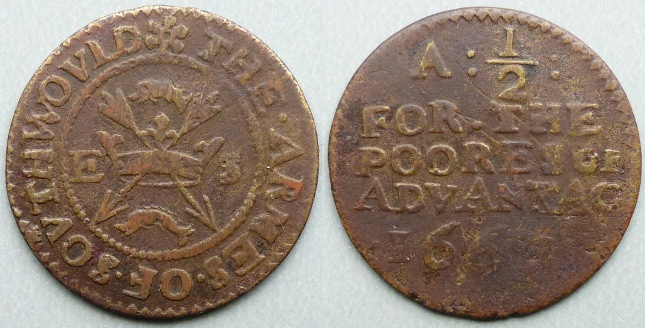 Southwold, town issue 1667 halfpenny