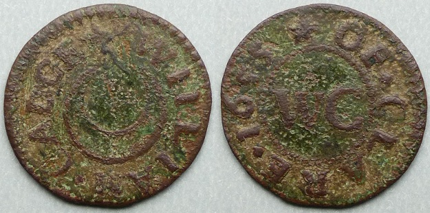 Clare, William Cadge 1655 farthing