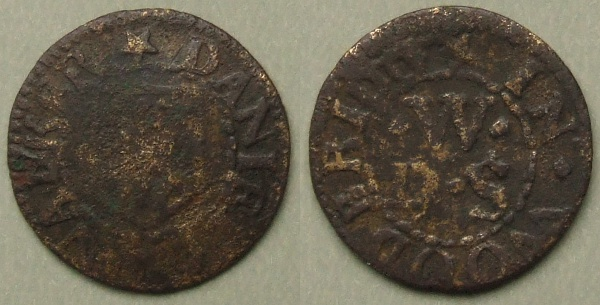 Woodbridge, Daniell Walker farthing, Cranbrook 367a