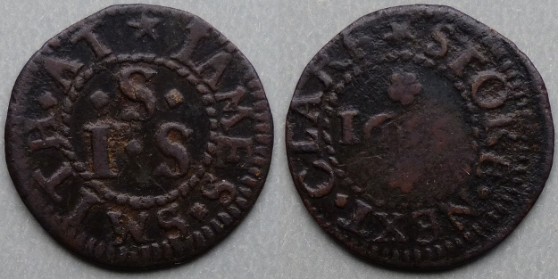 Stoke-by-Clare, James Smith1655 farthing