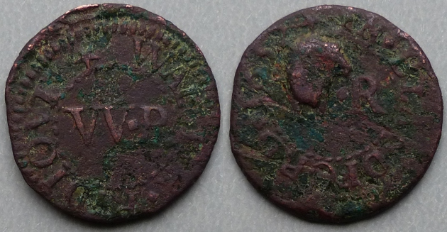 Blandford Forum, Wallter Ridiout 1652 farthing N859