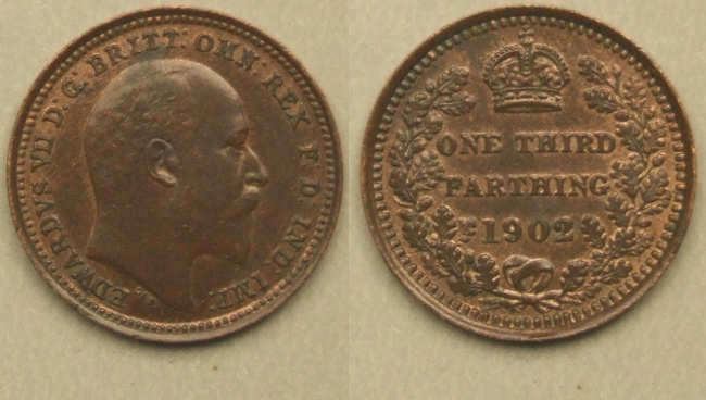 Edward VII 1902 Third Farthing