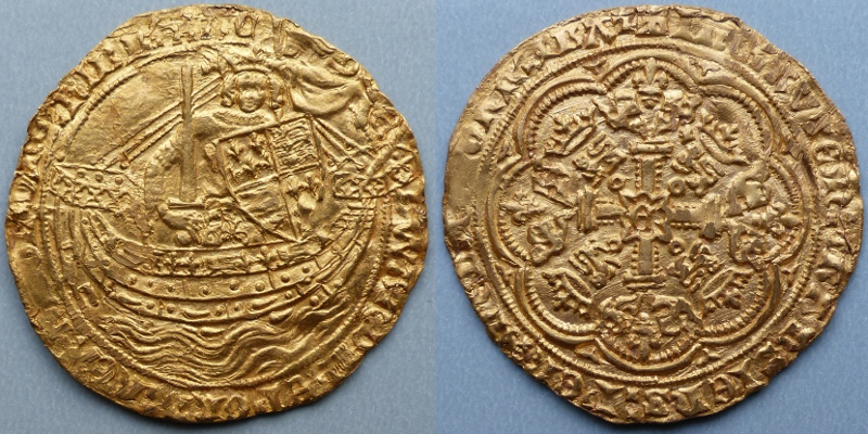 Edward III, transitional treaty period (1361) gold noble