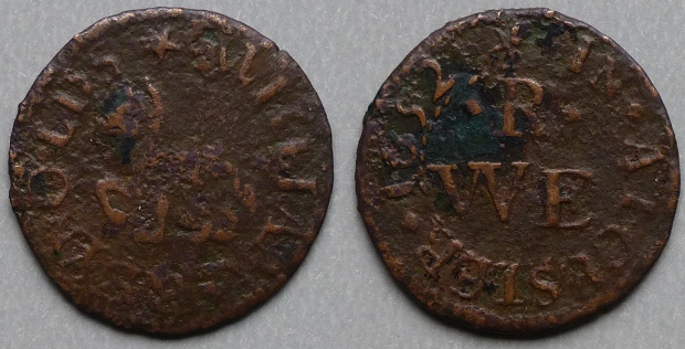 Alcester, William Renolds 1652 farthing