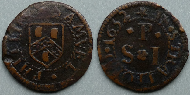 Stratford-on-Avon, Samuel Phillips 1652 farthing