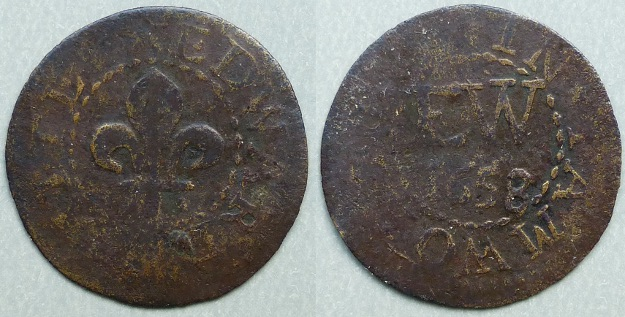 Tamworth, Edward White 1658 farthing