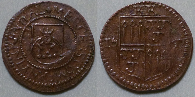 Kendal, Mercers Company 1657 farthing