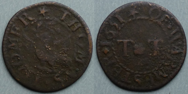 Warminster, Thomas Toomer 1651 farthing