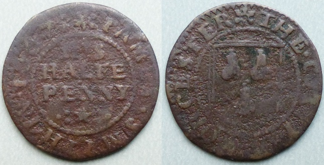 Worcester, James Smith 1667 halfpenny