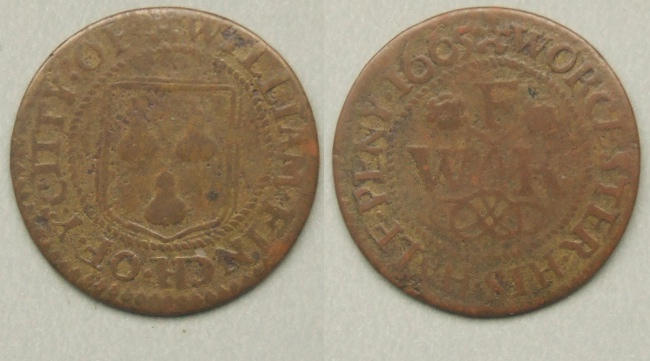 Worcester, William Finch halfpenny 1665