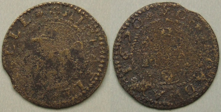 Broadway, Michael Russell 1670 halfpenny