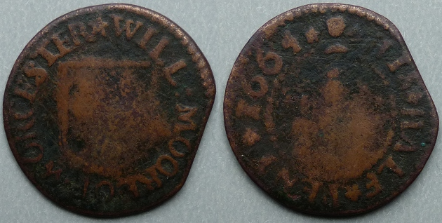 Worcester, Will Moore 1664 halfpenny