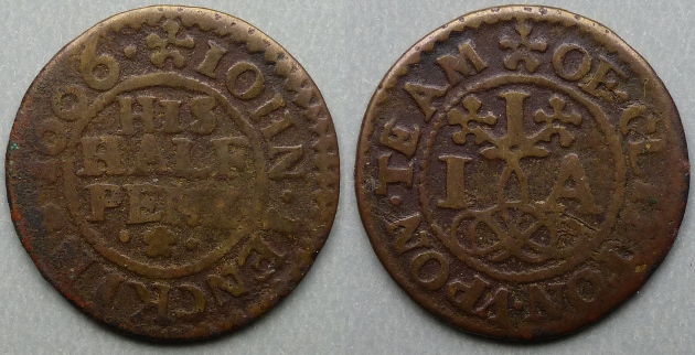 Clifton-on-Teme, John Jenkins 1666 halfpenny