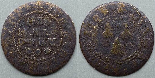 Old Swinford, John Richardson 1669 halfpenny