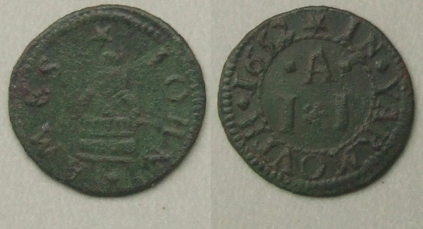 Great Yarmouth, John Ames 1652 farthing