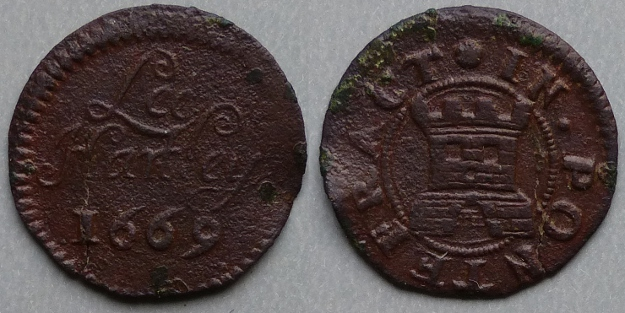 Pontefract, Lee Hartley 1669 farthing