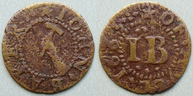 Kingston-upon-Hull, John Baker 1663 farthing