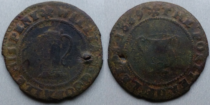 Leeds, William Goodalle 1669 penny