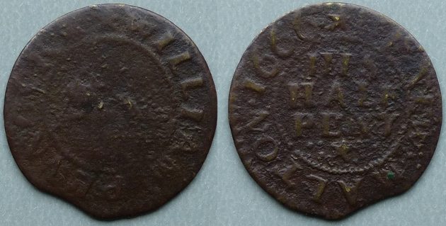 New Malton, William Pennock 1666 halfpenny