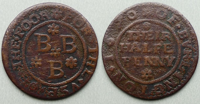 Bridlington, borough issue 1670 halfpenny