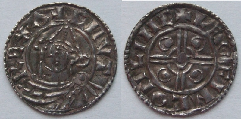 Cnut Pointed Helmet type penny