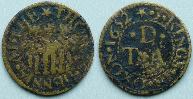 Oxford, Thomas Dennis 1652 farthing