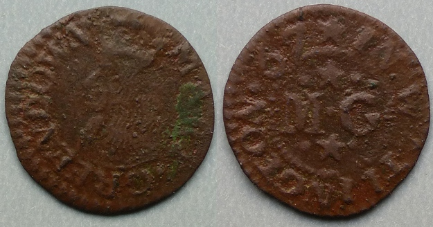 Watlington, Mary Greendown 1667 farthing