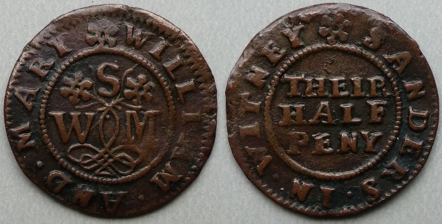 Witney, William and Mary Sanders halfpenny token