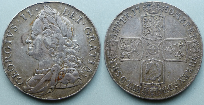 George II, 1750 crown