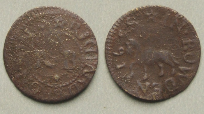 Bowden 17th century traders token 1658