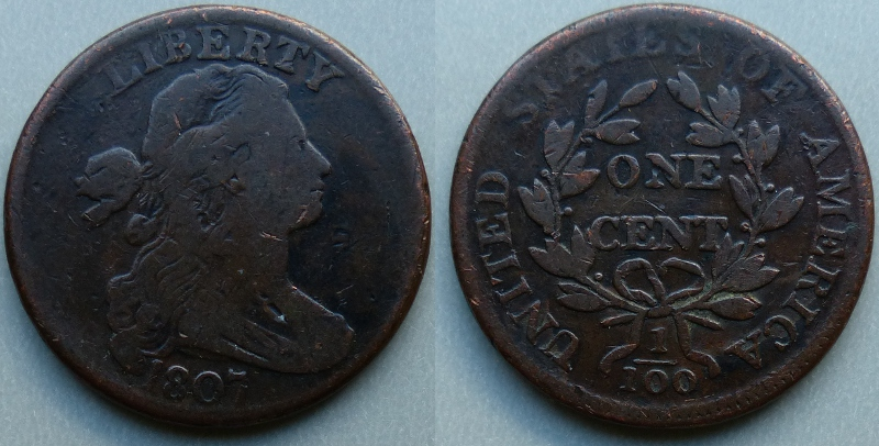 1807 draped bust cent