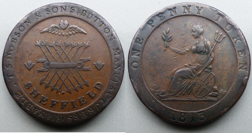 Sheffield, S Hobson & Sons penny