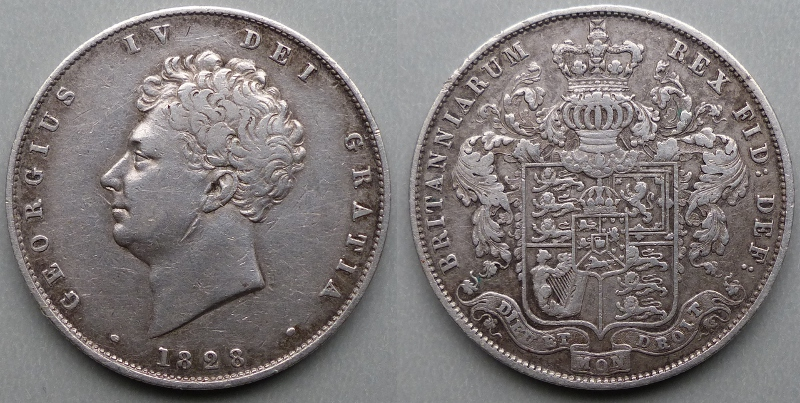 1828 halfcrown