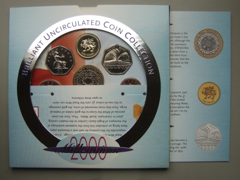 2000 Brilliant Uncirculated Coin Collection