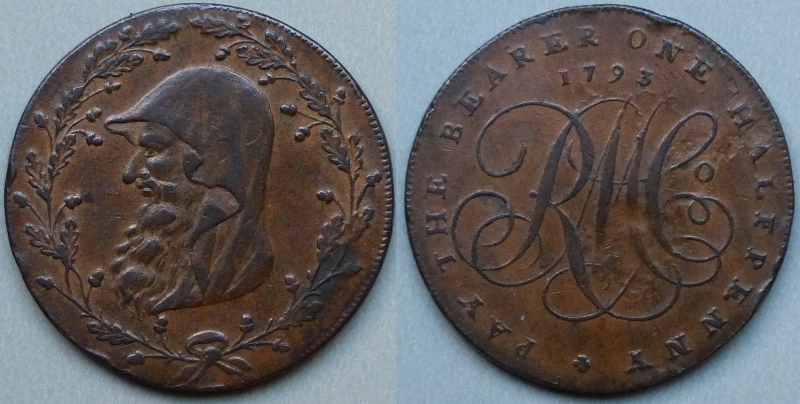 Anglesey, 1793 halfpenny