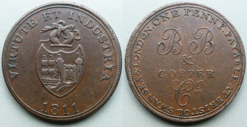 Bristol, Bristol Brass & Copper Co 1811 penny