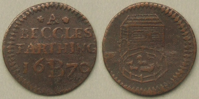 Beccles, town issue 1670 farthing