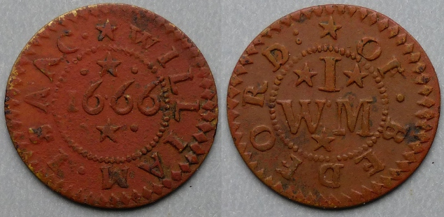 Bedford, William Isaac 1666 farthing