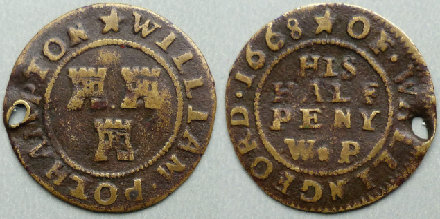 Wallingford, William Polhampton 1668 halfpenny