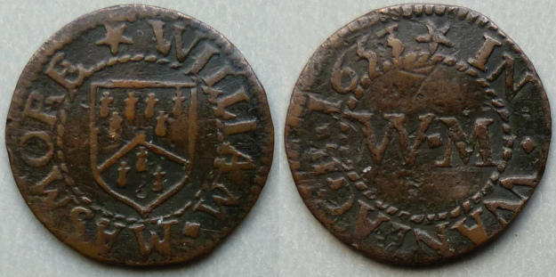 Wantage, William Masmore 1653 farthing N231