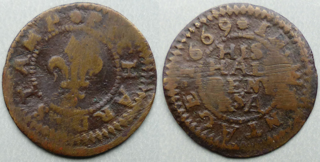Wantage, Richard Stamp 1669 halfpenny