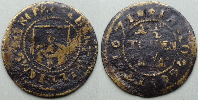 Longcot, Albert Williams 1671 halfpenny