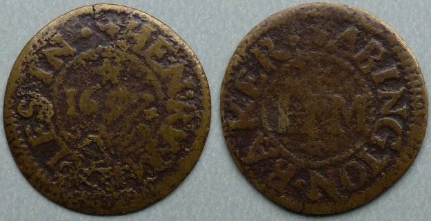 Abingdon, Henry Meales 1657 farthing