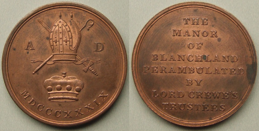 Blanchland Lord Crewe's perambulation token 1839