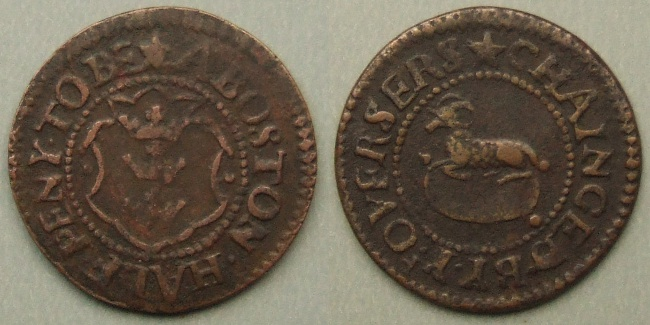 Boston, town issue halfpenny token N 2909