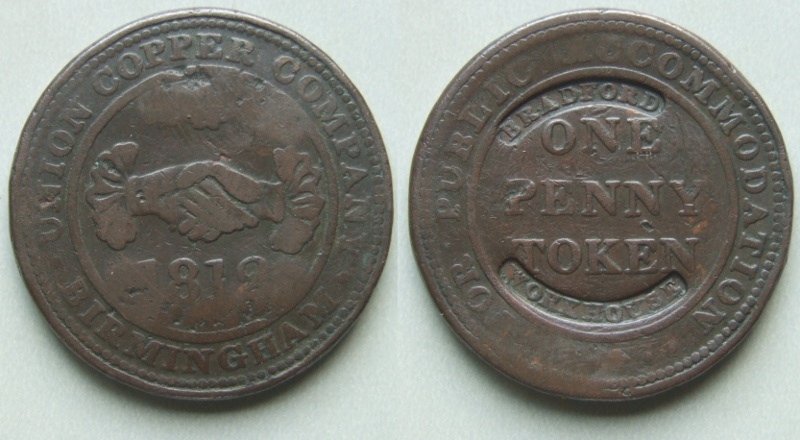 Bradford,counterstamped Workhouse penny