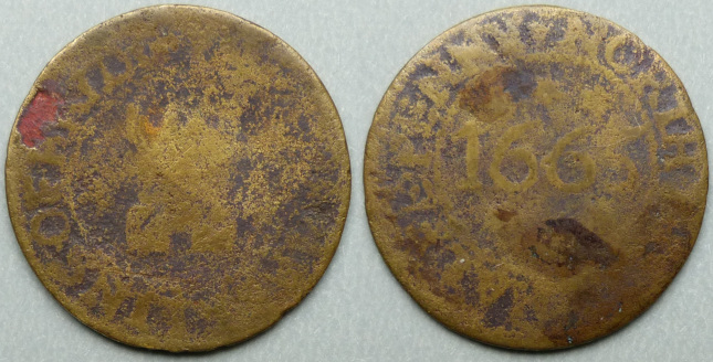 Bridgenorth, Chamberlins 1665 halfpenny